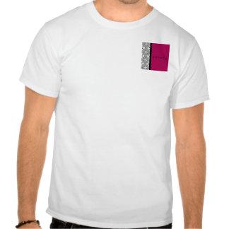 Placer del damasco en rojo del Cherrystone Camiseta