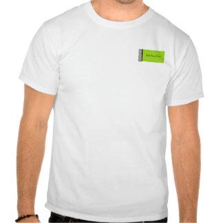Placer del damasco en verde lima camisetas
