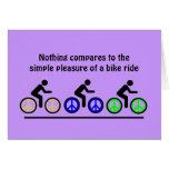 placer del montar a caballo de la bici tarjeta