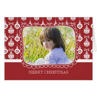 Placer del ornamento - tarjeta del día de fiesta