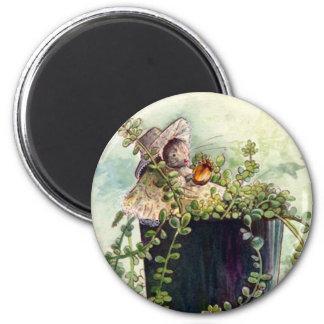 Placer del ratón de la bellota imán redondo 5 cm