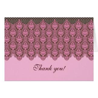 Placer del rosa y del chocolate tarjeta de felicitación