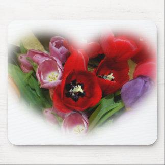 Placer del tulipán alfombrillas de raton
