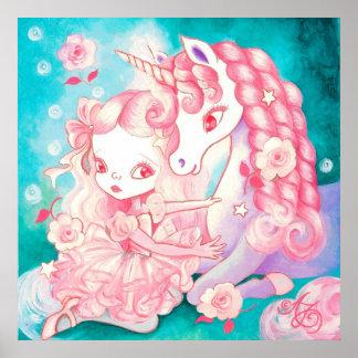 Placer del unicornio póster
