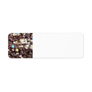 Placer dulce etiqueta de remite