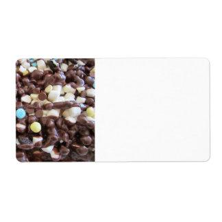Placer dulce etiquetas de envío