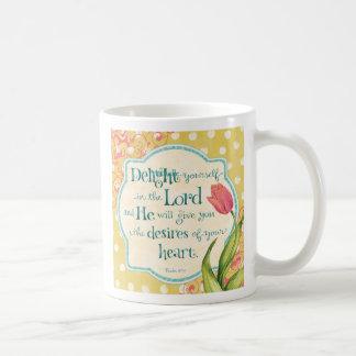 Placer en el señor - taza de café personalizada