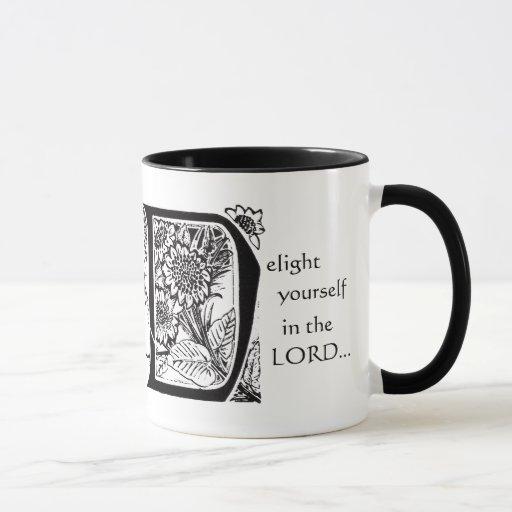 Placer en taza del vintage de Jesús