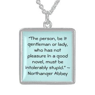 Placer en una buena cita nueva de Austen Colgante Cuadrado