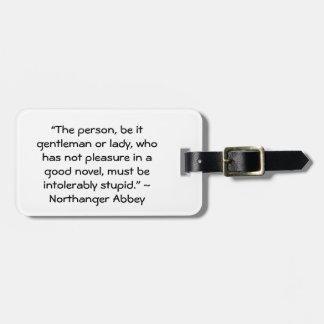 Placer en una buena cita nueva de Austen Etiqueta De Maleta