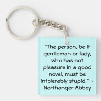 Placer en una buena cita nueva de Austen Llavero Cuadrado Acrílico A Doble Cara