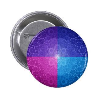 Placer entonado Jeweled del círculo Pin Redondo 5 Cm
