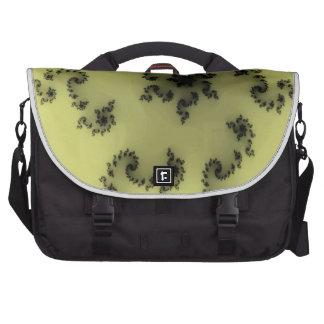 Placer floral negro bolsas para ordenador