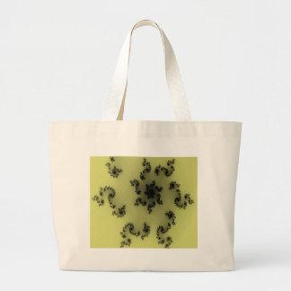 Placer floral negro bolsa