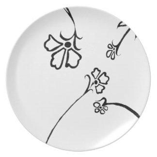 Placer floral platos de comidas