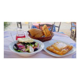 Placer griego tarjeta fotográfica personalizada