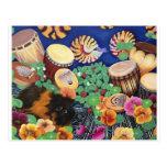Placer mágico del jardín del tambor de la alfombra tarjetas postales