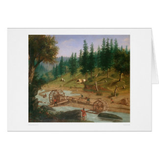 Placer Mining at Foster's Bar, California (1331A) Greeting Card