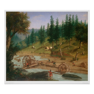 Placer Mining at Foster's Bar, California (1331A) Posters