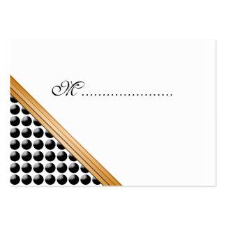 Placer punteado tarjeta del asiento de la tabla tarjetas de visita grandes