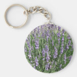 Placer púrpura de la lavanda llaveros personalizados