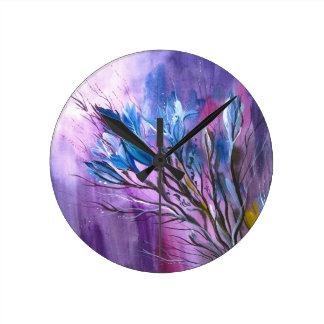 Placer púrpura reloj de pared