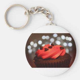 Placer rojo de la magdalena llaveros personalizados