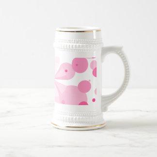 Placer rosado Buttefly Stein abstracto Taza De Café