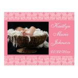 Placer rosado tarjeta postal