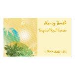 Placer tropical tarjetas de visita