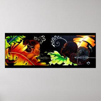 Placeres de Eden: Fuego y dicha - pastel de la imp Posters