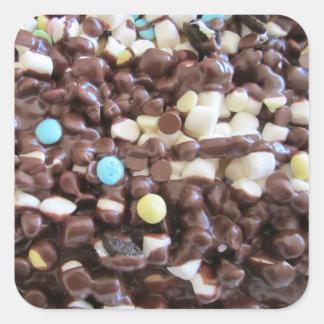 Placeres dulces calcomanía cuadradas personalizadas