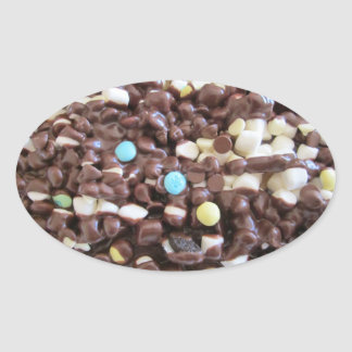 Placeres dulces pegatina ovalada