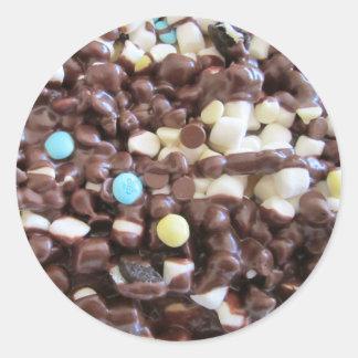 Placeres dulces pegatina redonda