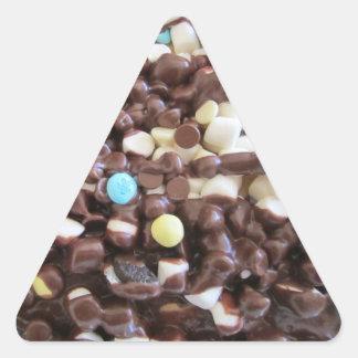 Placeres dulces pegatina triangular