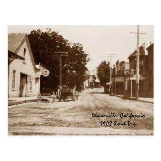 Placerville CA 1908 Postal