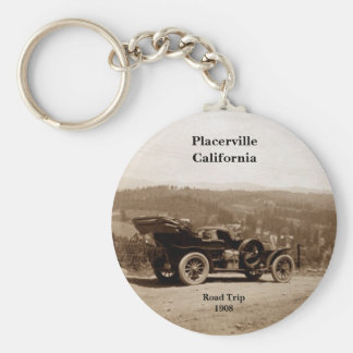 Placerville, California 1908 Road Trip Basic Round Button Keychain