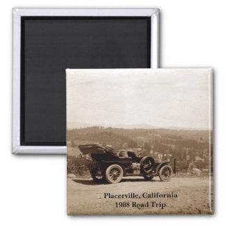 Placerville, California 1908 Road Trip Magnet