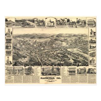 Placerville California en 1888 Postal