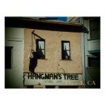 Placerville California hangman's tree poster print