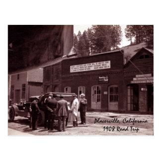 Placerville, viaje por carretera California1908 Postal