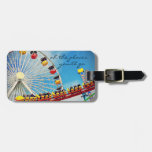 """Places"" ferris wheel & coaster photo luggage tag"