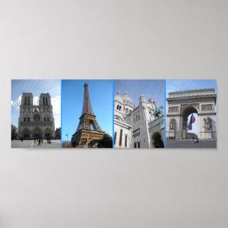 Places of Paris Posters