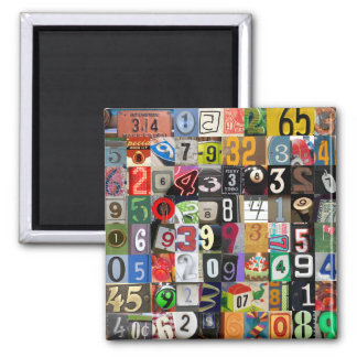 Places of Pi 2 Inch Square Magnet