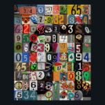 """Places of Pi Poster<br><div class=""""desc"""">Attention math lovers: perk up your dorm room,  classroom or home with this colorful collage of numbers.</div>"""