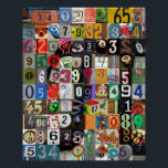 "Places of Pi Poster<br><div class=""desc"">Attention math lovers: perk up your dorm room,  classroom or home with this colorful collage of numbers.</div>"