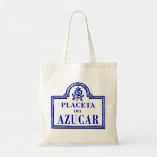Placeta del Azúcar, Granada Street Sign Tote Bags