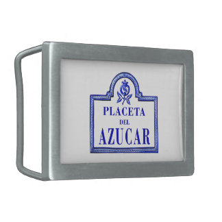 Placeta del Azúcar, Granada Street Sign Rectangular Belt Buckles