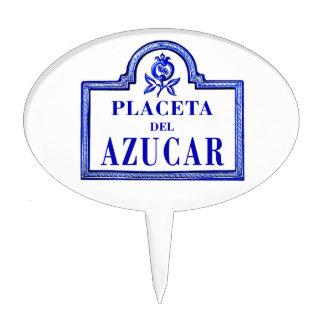 Placeta del Azúcar, Granada Street Sign Cake Topper