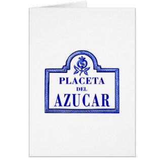 Placeta del Azúcar, Granada Street Sign Card